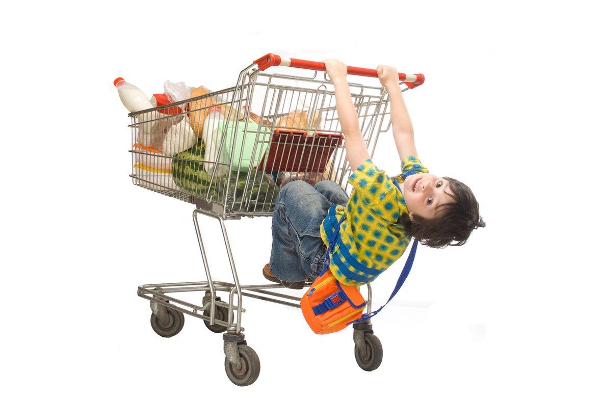 Supermarkt met kinderen