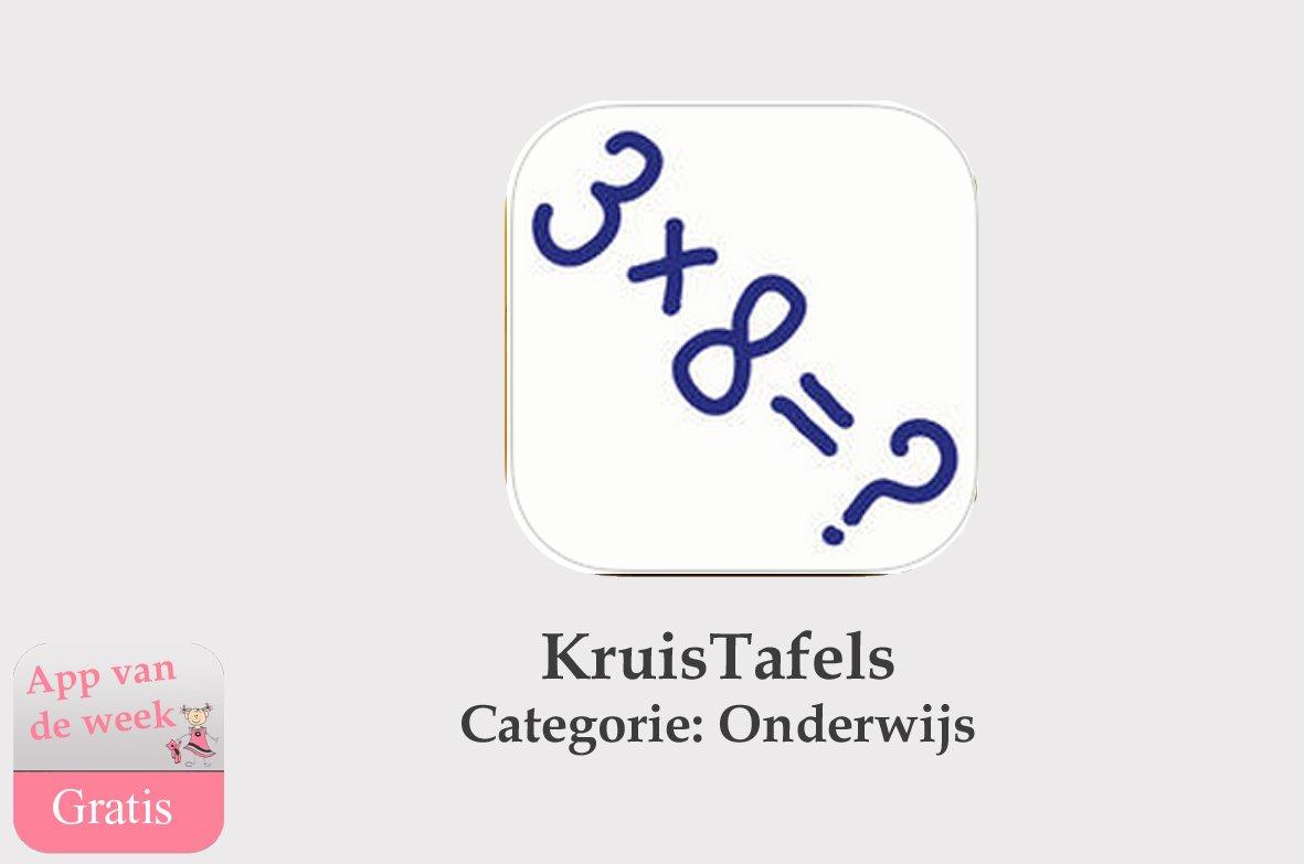 app van de week kruistafels